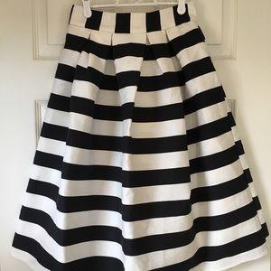Asos black and white high waisted skirt